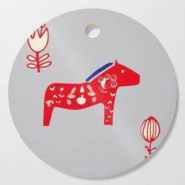 Dala Horse gray Cutting Board