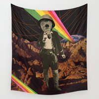 cowboy Wall Tapestries featuring Galactic Cowboy by Dan Howard