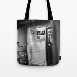 Metro in New York City, USA | City escape | Black and white Travel photography art print Tote Bag