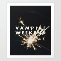 vampire weekend Art Prints featuring Vampire Weekend by alboradas