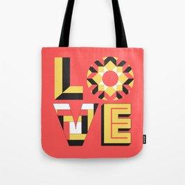 LOVE - Coral Tote Bag