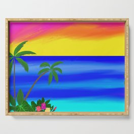 Beach Vibes Serving Tray