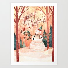 Christmas Card 2015 Art Print