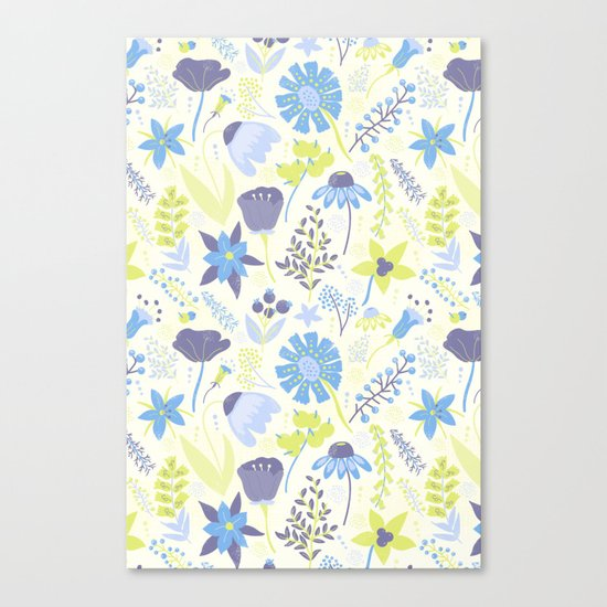 Blue and Purple Wildflowers Canvas Print