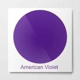American Violet Metal Print