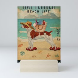 Beach Life Sandy Toes Rat Terrier dog gift Mini Art Print