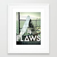 bastille Framed Art Prints featuring Bastille - Flaws by Thafrayer