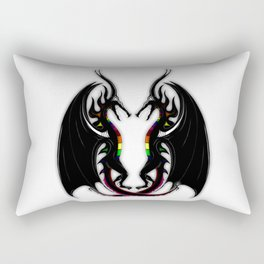 Black Dragons Rectangular Pillow