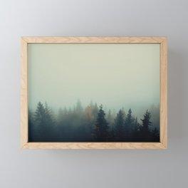Foggy woods Framed Mini Art Print