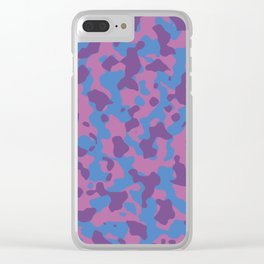 Girly Girl Camouflage Clear iPhone Case