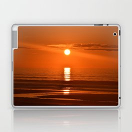 A Magical Sunrise Over the Golden Sands Laptop & iPad Skin