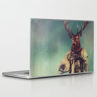 antlers Laptop & iPad Skins featuring Without Words by rubbishmonkey