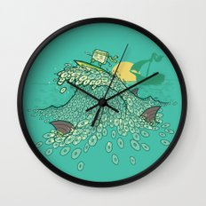 Surfin' Soundwaves Wall Clock