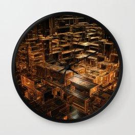 World of cubes Wall Clock