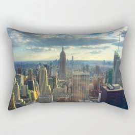 View Of New York City Rectangular Pillow