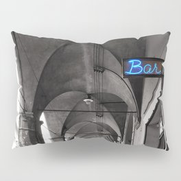 Black and white Bologna Street Photography Pillow Sham