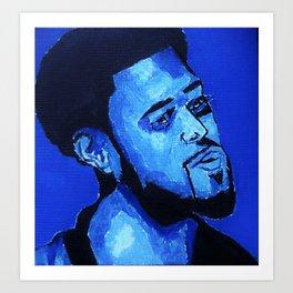 Blue J C O L E Art Print