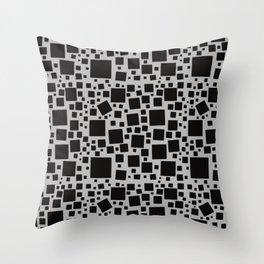 Monochrome Squares Everywhere Seamless Pattern  Throw Pillow