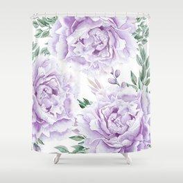 Pretty Purple Flower Garden Shower Curtain