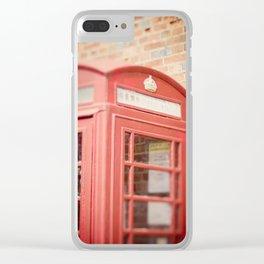 Telephone Box Clear iPhone Case