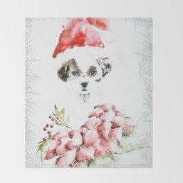 A Shih Tzu Christmas Throw Blanket