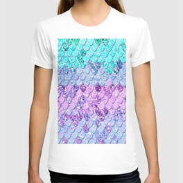 Mermaid Scales with Unicorn Girls Glitter #9 #shiny #decor #art #society6 T-shirt
