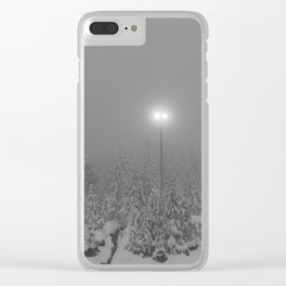 Dark day in the mountains Clear iPhone Case