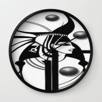 egyptian Wall Clocks featuring Egyptian by Müge Başak