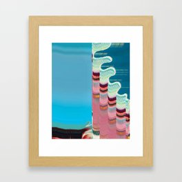 Glitch Case Framed Art Print