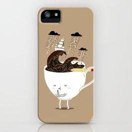 Brainstorming Coffee iPhone Case