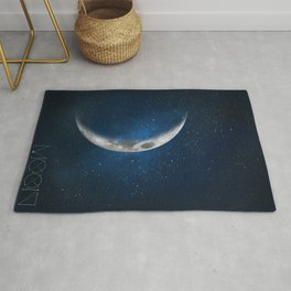 The moon is friend for the lonesome to talk to. Rug