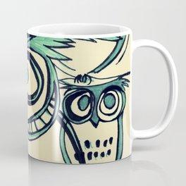 Green Owls by Faern  Coffee Mug