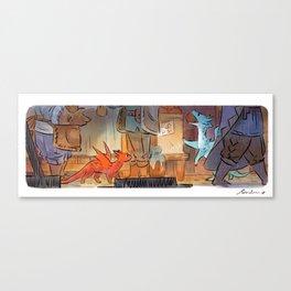 Mamie Dragon - Market Canvas Print