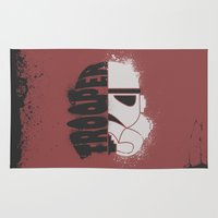 storm trooper Area & Throw Rugs featuring Storm Trooper by R. Cuddi