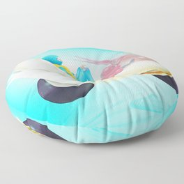 Time Bunny Girl and Art Robo Floor Pillow