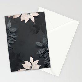 Metallic Tropical Pattern Stationery Cards