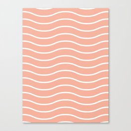 Peach Waves Canvas Print