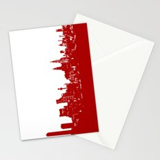Liverpool city silhouette Stationery Cards