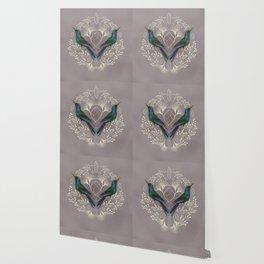 Endurance Crystal Grid in Mauve Wallpaper