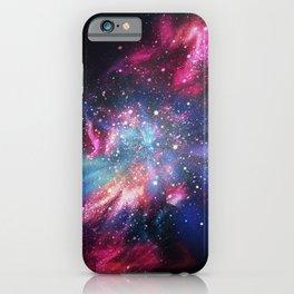 Abstract Nebula #10: Purple blue rays iPhone Case