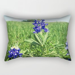 Texas Bluebonnet Flowers Rectangular Pillow