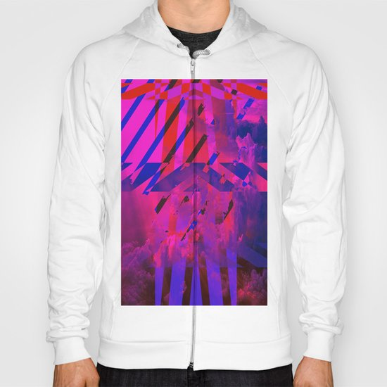 Clouds Mingle with Lines Hoody