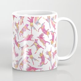 Watercolor Flying Cats - Pink Palatte Coffee Mug
