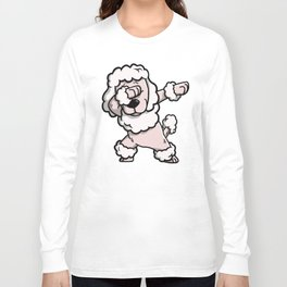 Dabbing Poodle Dog Dab Dance Long Sleeve T-shirt