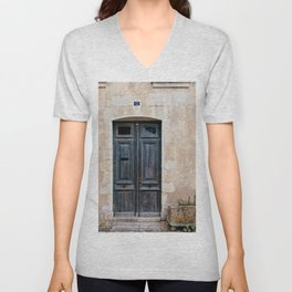 Old fashioned door Unisex V-Neck