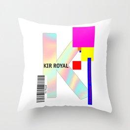 """Cocktail """"K"""" - Kir Royal Throw Pillow"""