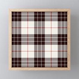 White Tartan with Black and Red Stripes Framed Mini Art Print