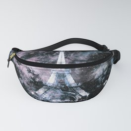 Paris Dreams Pale Pink & Blue Galaxy Fanny Pack