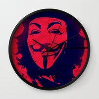che Wall Clocks featuring Expect Che by rubbishmonkey