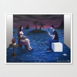 Mi refugio en un mar de caos Canvas Print
